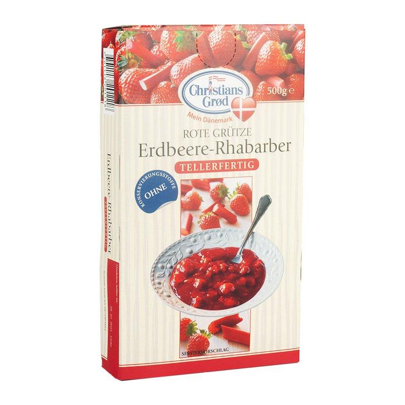 Christians Grød Grütze Erdbeere-Rhababer 500g