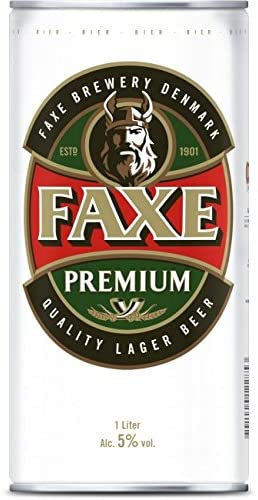Faxe Danish Lager Beer 1,0l XXL-Dose