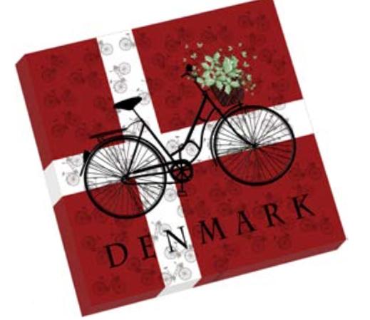 "Servietten ""Dänisches Fahrrad"""