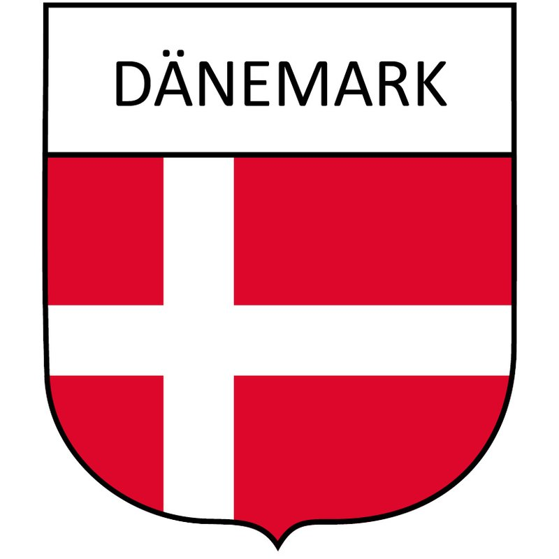Wappenaufkleber Dänemark
