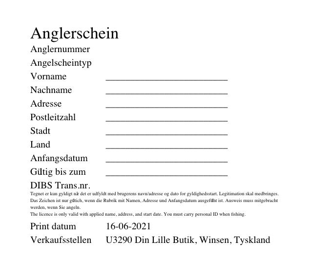 Angelschein Dänemark Wochenkarte