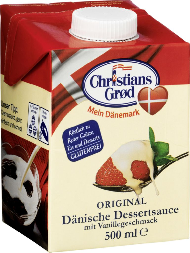 Christians Grød Vanillesoße/ Softeis 500ml