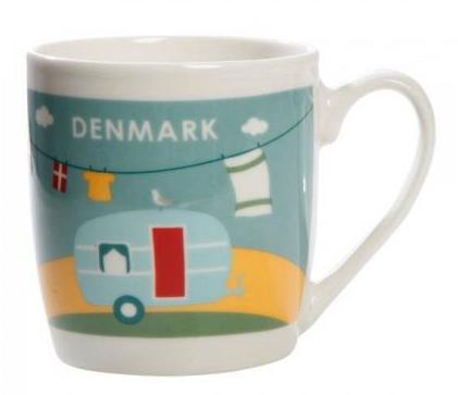 "Dänische Kaffeetasse ""Campingurlaub Dänemark"""