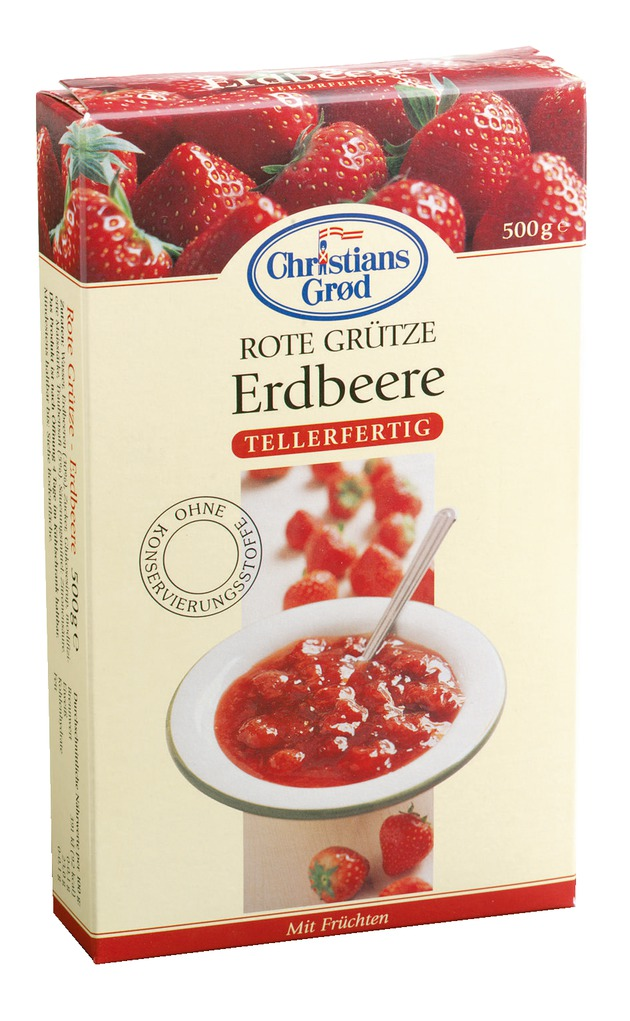 Christians Grød Dänische Rote Grütze Erdbeere 500g