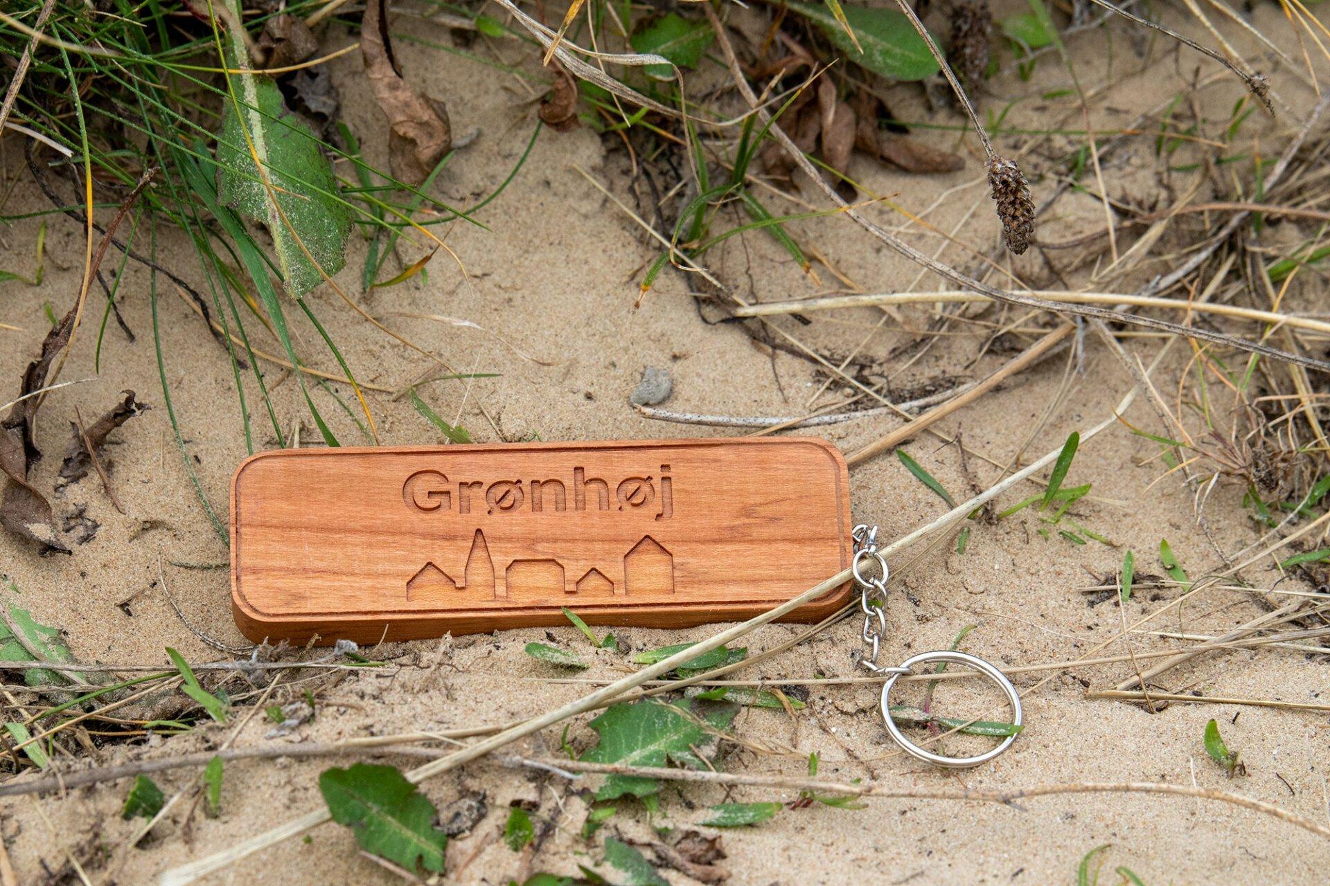 Holz-Schlüsselanhänger Grønhoj