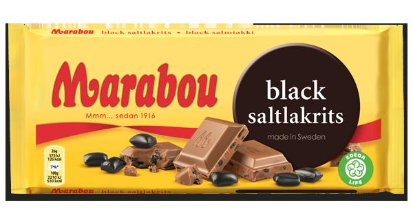 Marabou Black Saltlakrits Schokolade 220g