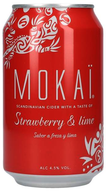 Mokai Strawberry Lime 4,5% 0,33 ltr. Dose