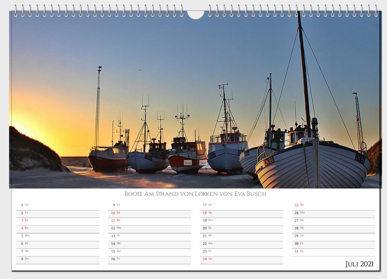 Dänemark  Wandkalender 2021 Panoramakalender A3