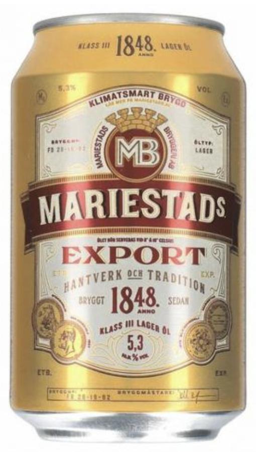 Mariestads Export 5,3% 0,33 ltr.