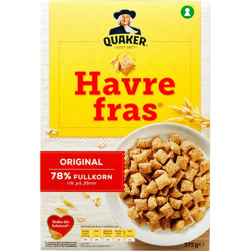 Quaker Havrefras 375g