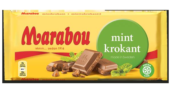 Marabou Mint Krokant Schokolade 250g