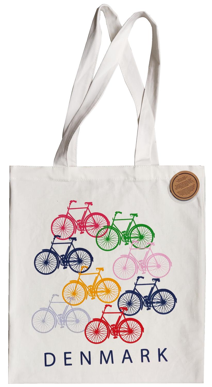 Jutebeutel Dänische Fahrräder