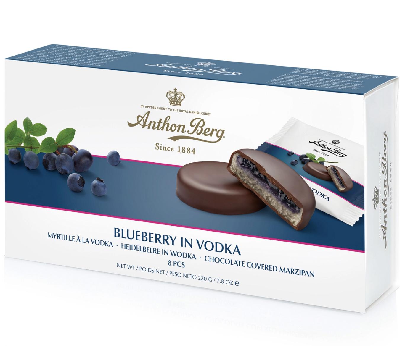Anthon Berg Blueberry in Vodka 220g