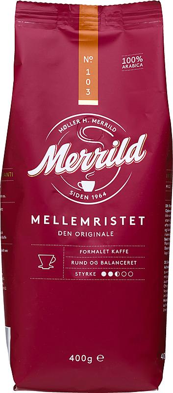 Merrild 103 Mellemristet Kaffee 400g