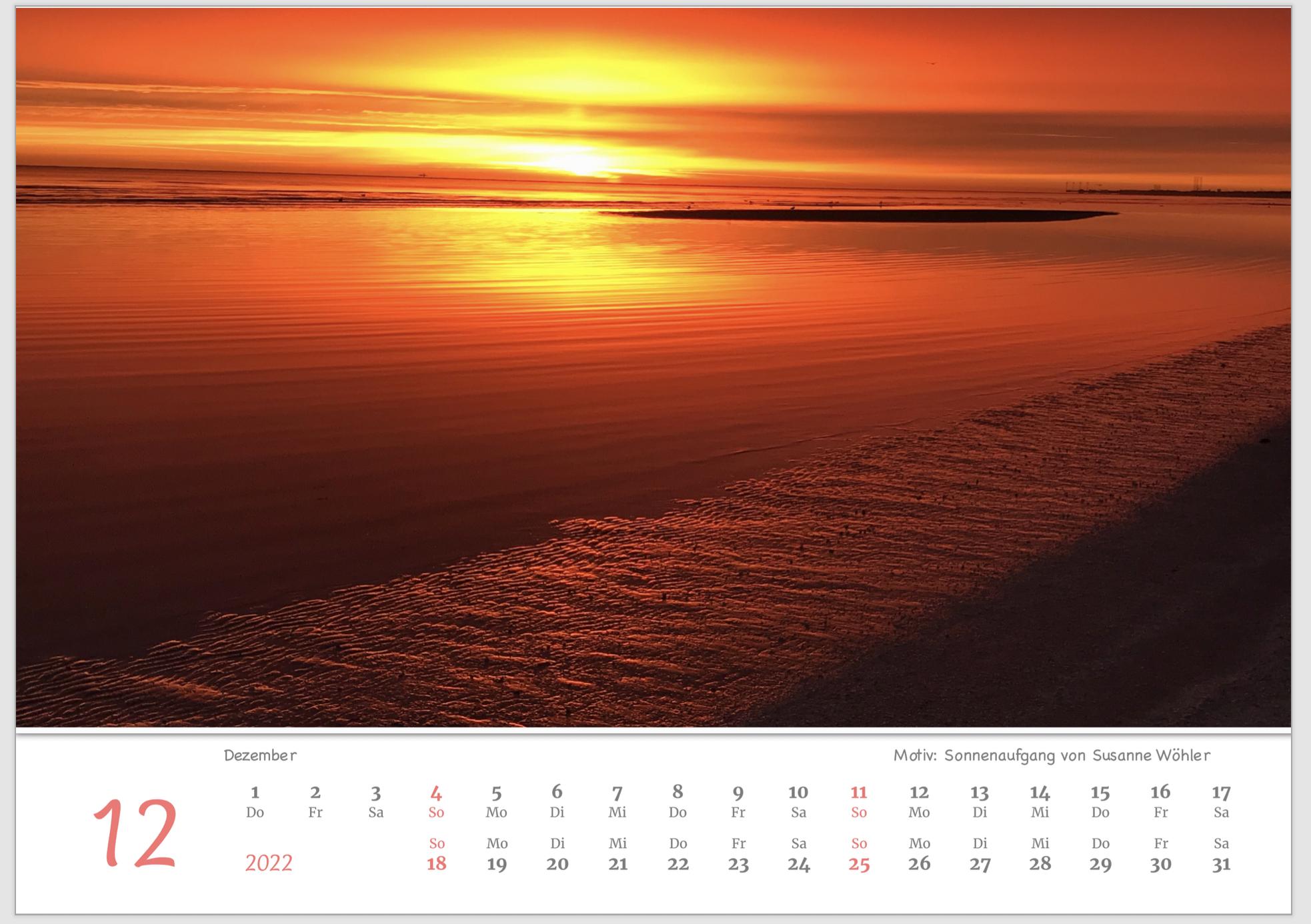 Dänemark  Wandkalender 2022 Panoramakalender A3