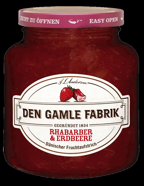 Den Gamle Fabrik Marmelade Rhabarber & Erdbeere 380g