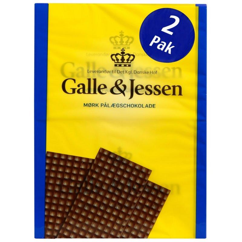 Galle & Jessen Mørk Pålægschokolade 2x108g