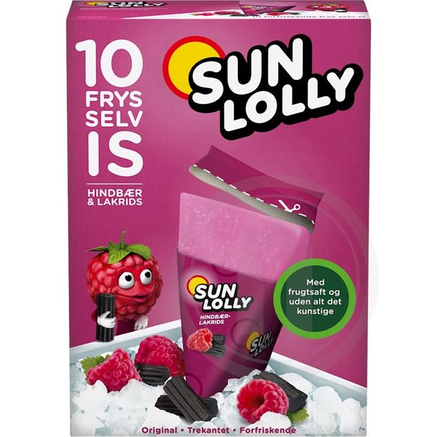 Sun Lolly Wassereis Himbeer-Lakritz 10er