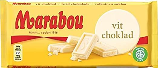 Marabou Vit Choklad 185g