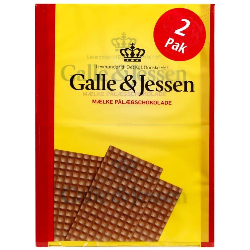 Galle & Jessen Mælk Pålægschokolade  2x108g