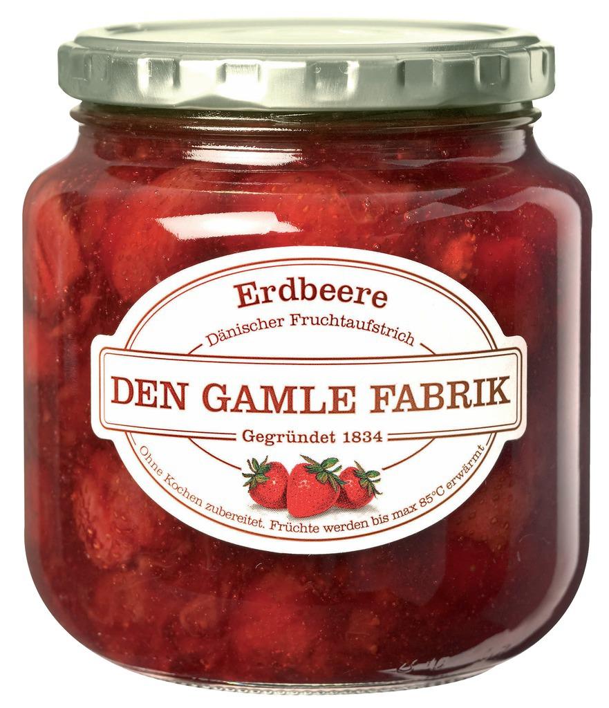 Den Gamle Fabrik Marmelade Erdbeere 600g