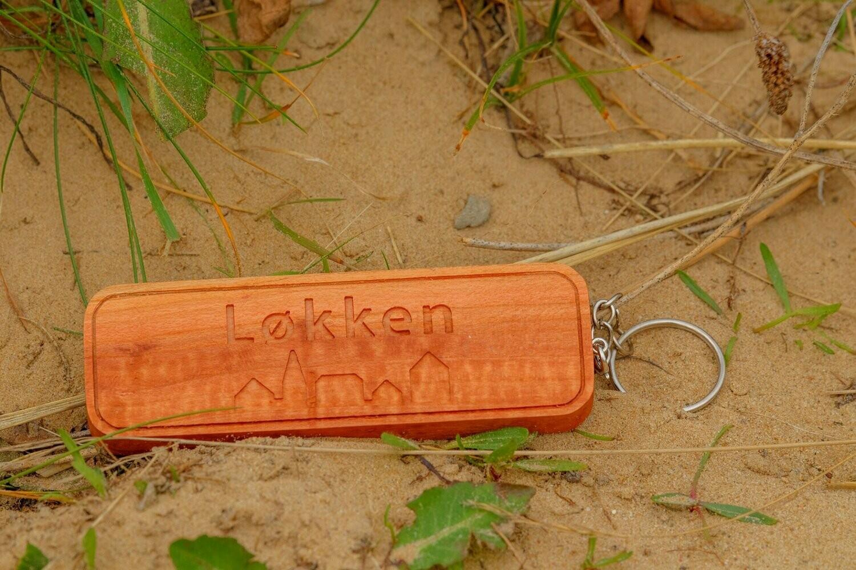 Holz-Schlüsselanhänger Løkken