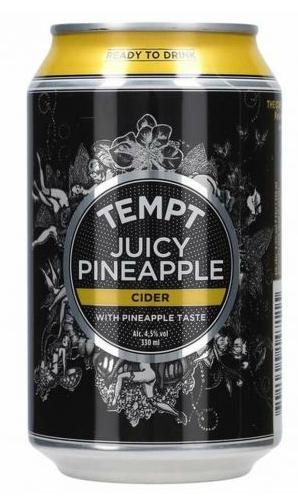 Tempt Juicy Pineapple Cider 4,5% 0,33l