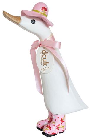 DCUK-Ente Weiß mit Pink
