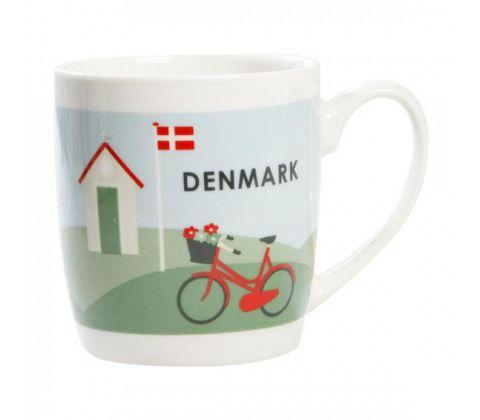 """Dänische Kaffeetasse """"Dänemark Fahrrad"""""""