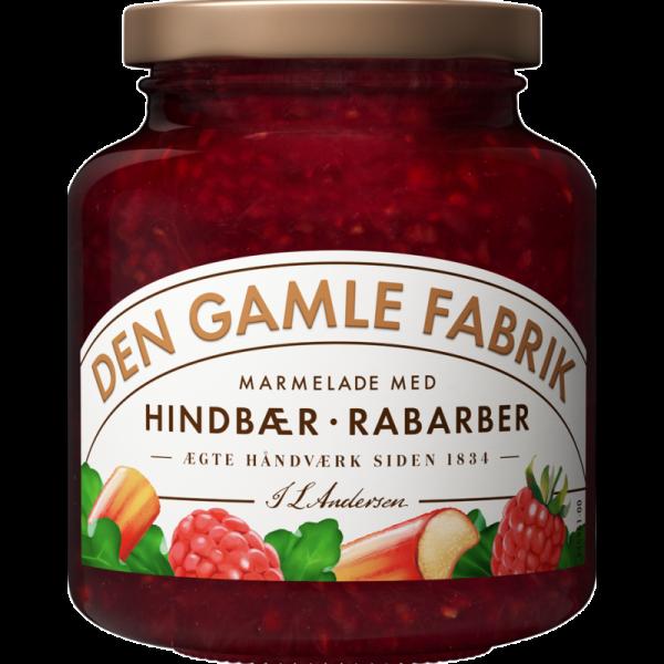 Den Gamle Fabrik Marmelade Himbeeren & Rhabarber 380g