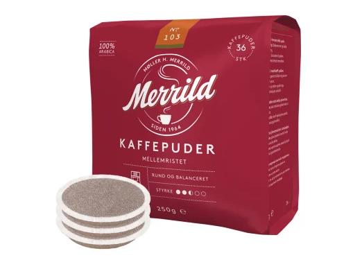 Merrild 103 Mellemristet Kaffee Pads 250g
