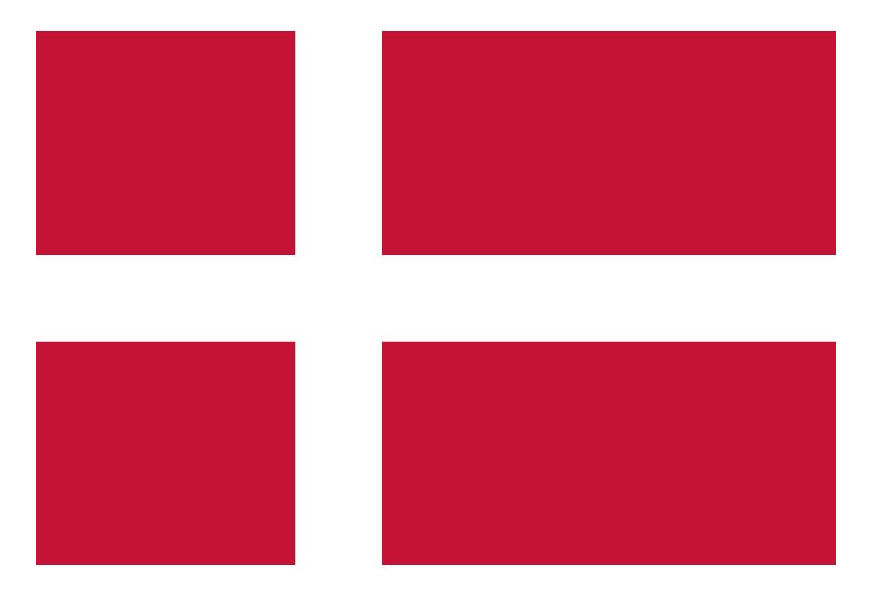 Autoaufkleber Dänemark  Klassisch