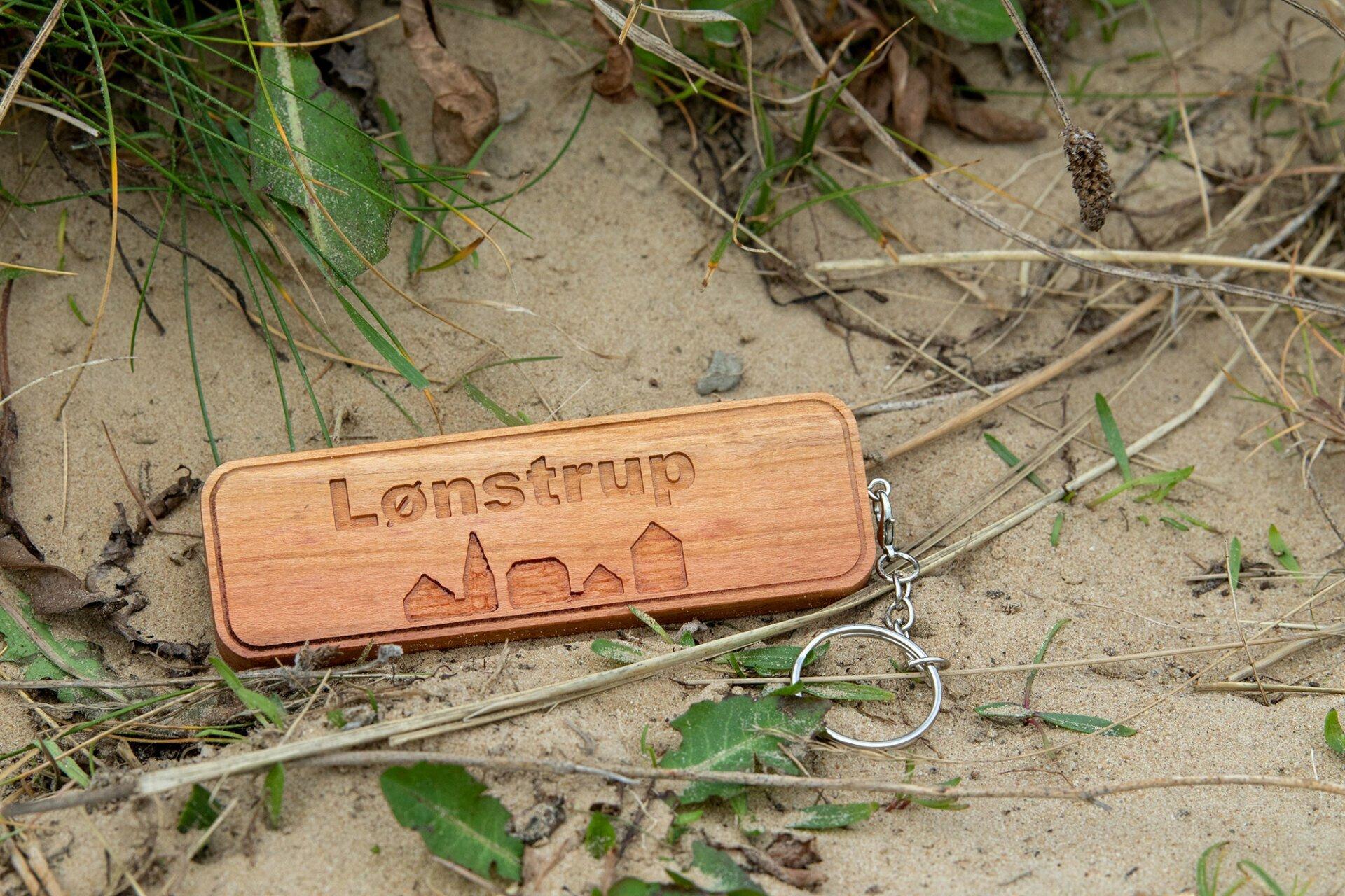 Holz-Schlüsselanhänger Lønstrup