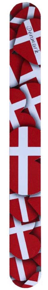 "Nagelfeile ""Dänemark Hjerteflag"""