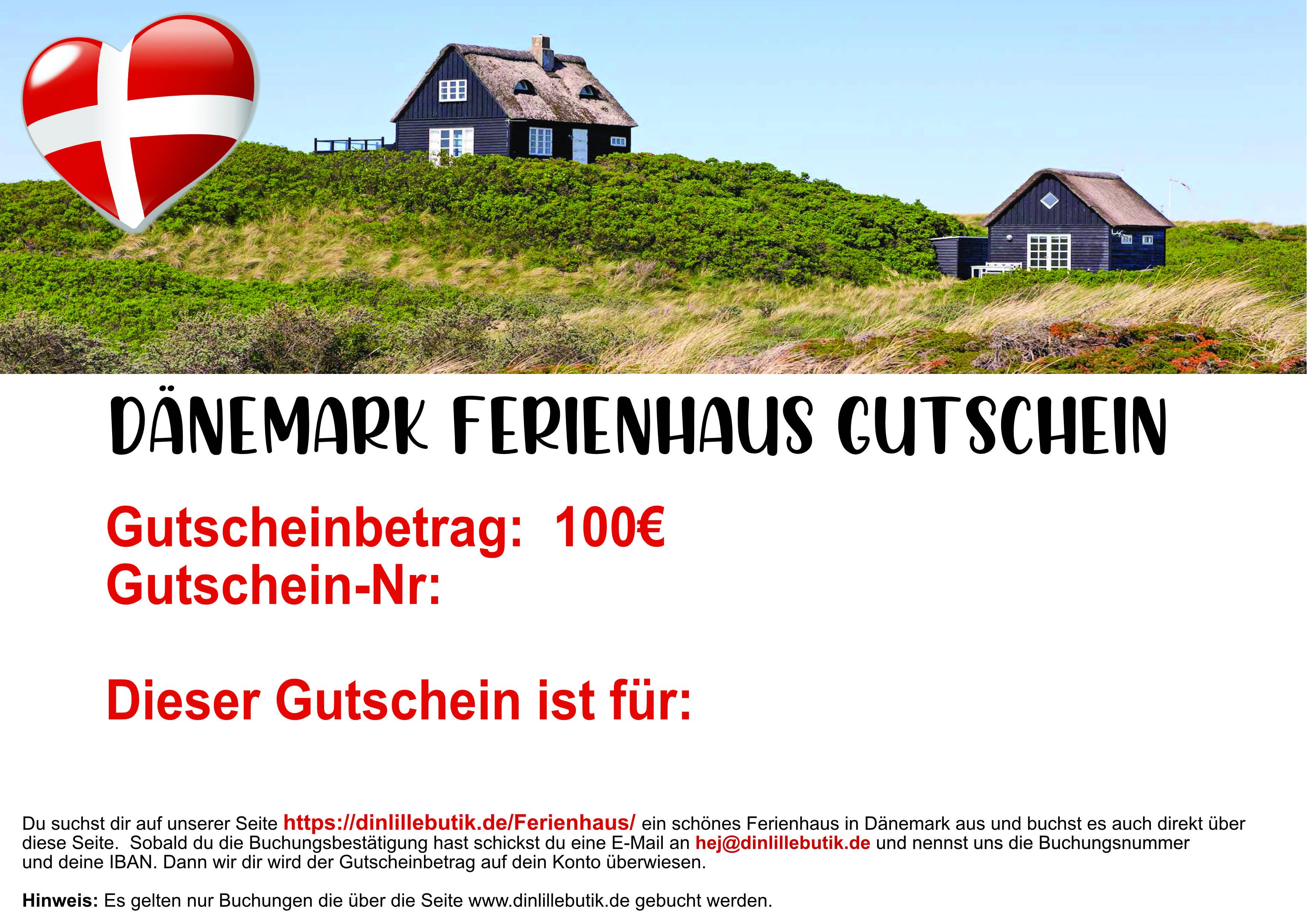 Dänemark Ferienhausgutschein 100 Euro