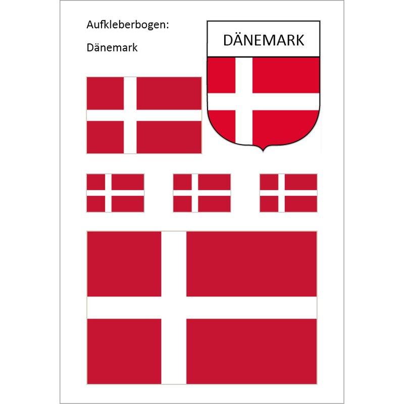Aufkleber-Set Dänemark