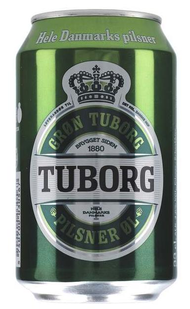 Tuborg Grøn Pilsner 4,6% 0,33 ltr.