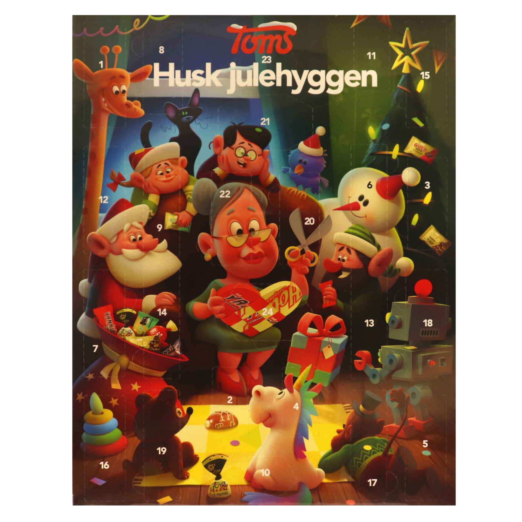 "Adventskalender  ""Toms julehyggen"""