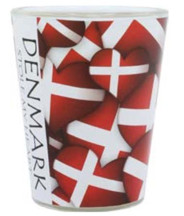 "Schnapsglas ""Dänemark Hjerteflag"""