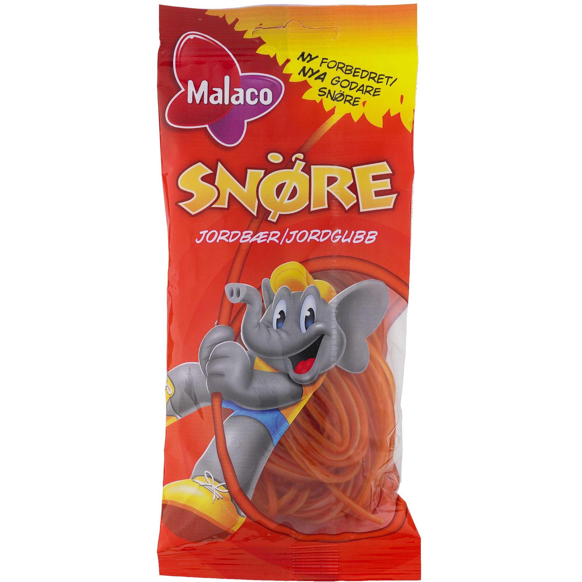 Malaco Snöre Erdbeere 94g