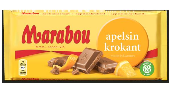 Marabou Apelsin Krokant Schokolade 250g