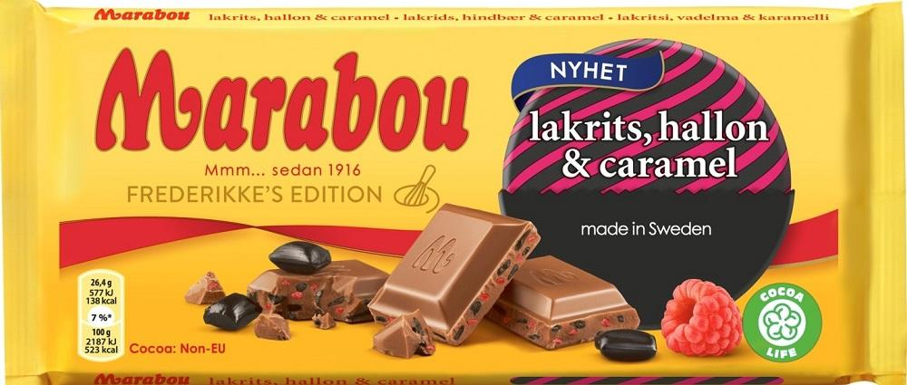 Marabou Lakrits, Hallon & Caramell 185g