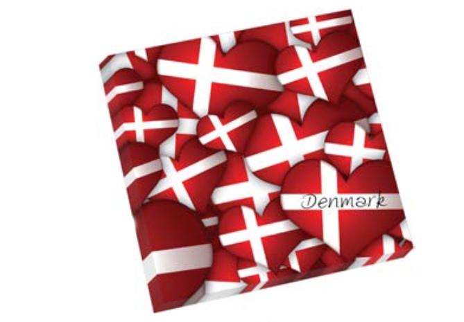 """Dänische Servietten """"Hjerteflag"""""""