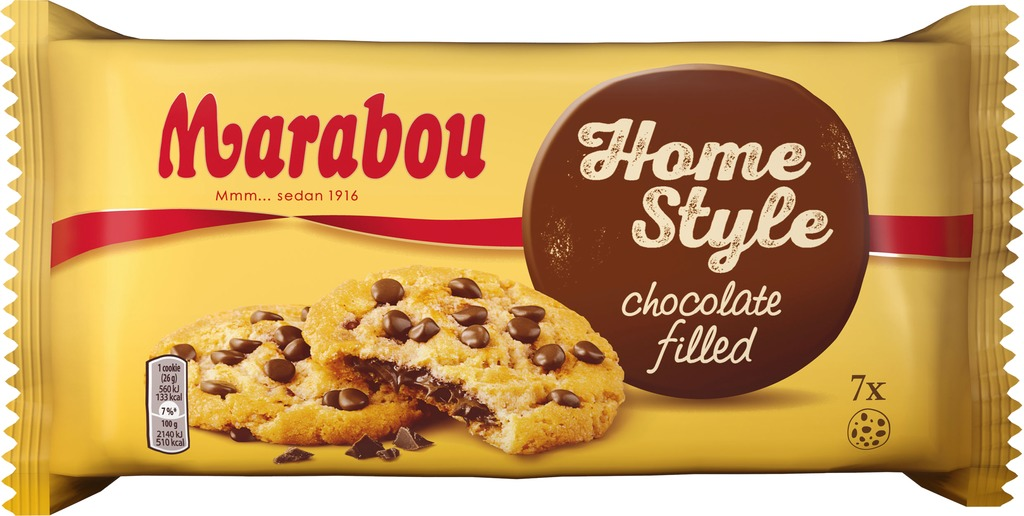 Marabou Home Style chocolate filled Cookies 182g