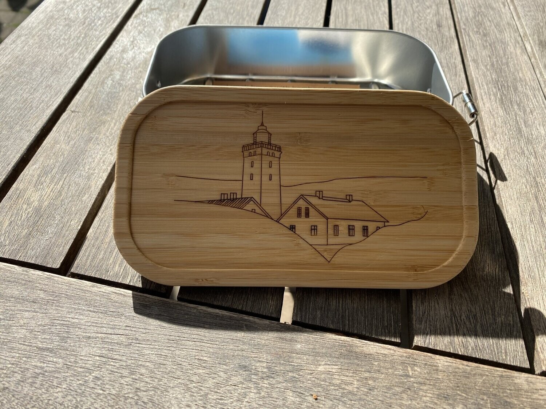 Lunchbox Rubjerg Knude Fyr mit Häusern
