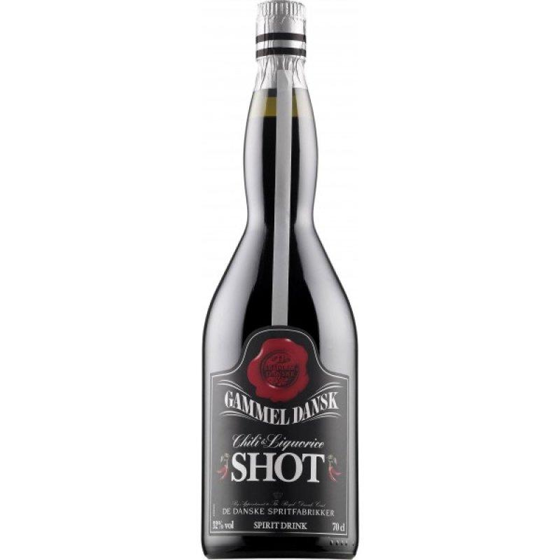 Gammel Dansk Chili Lakrids Shot 32% 0,7L